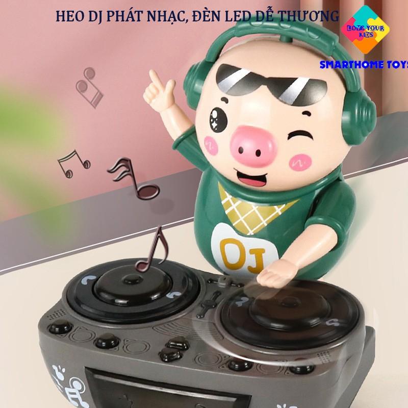 Heo Phát Nhạc – Chú Heo Chơi DJ Năng Động Siêu Dễ Thương Nhảy Theo Nhạc Và Đèn Cho Bé – SmartHome Toys