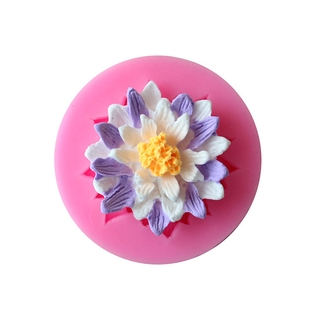 Lotus flower silicone fondant cake molds chocolate mould for baking decors