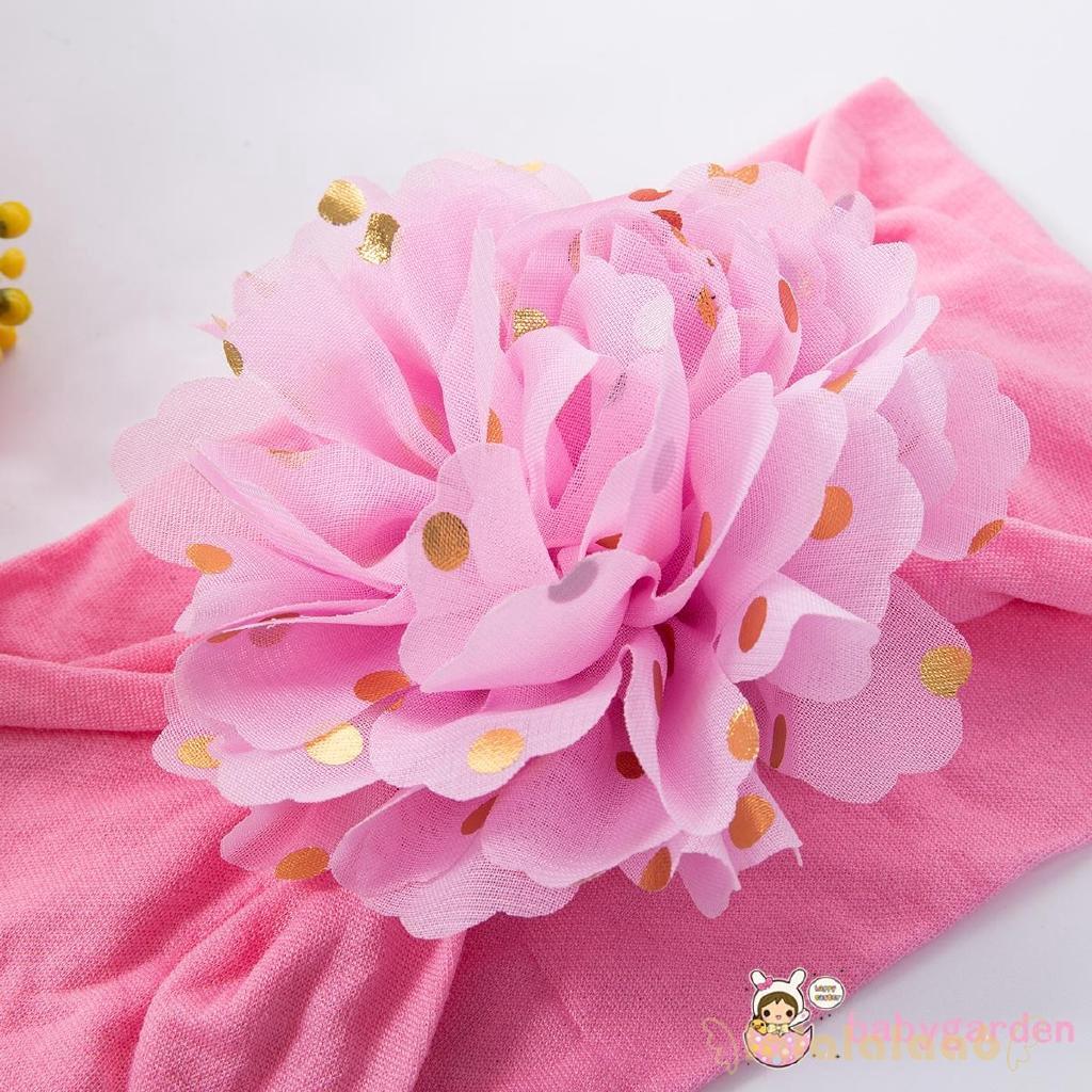 ◕ω◕ღ♛ღBaby Girls Cute Flower Elastic Hair Band Bow Headband Headdress
