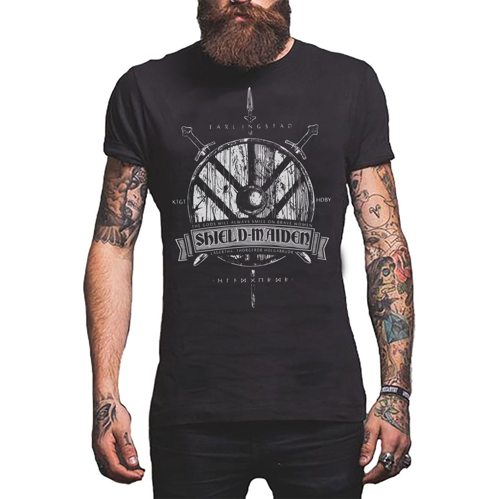 Viking Shield Maiden Norse Gods Men'S Shirt Father's Day Gift
