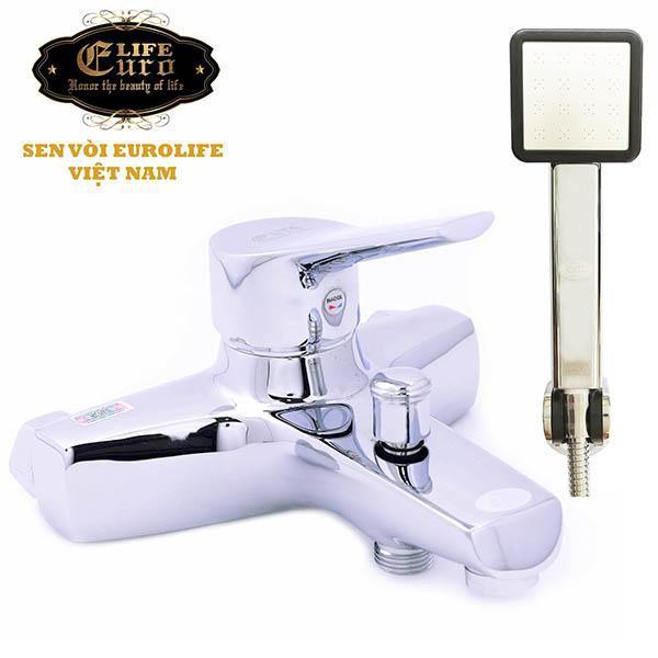 Bộ vòi sen nóng lạnh Eurolife EL-5001 (Trắng bạc)