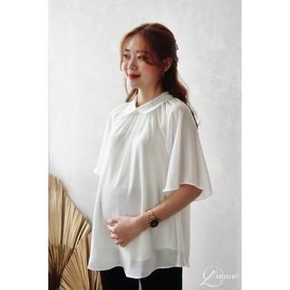 Áo bầu Rita Shirt chất tơ mềm cổ bẻ phù hợp cho mẹ bầu diện đi làm thiết kế bởi LAMME thumbnail