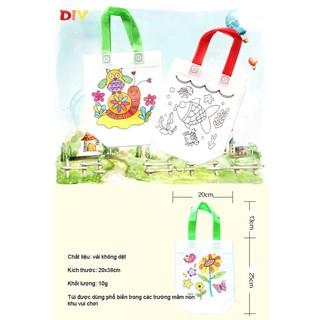 Túi xách tô màu vẽ bằng vải dệt cho bé đồ chơi Simbaba cho trẻ em 3-5 tuổi tập tô màu sáng tạo 4