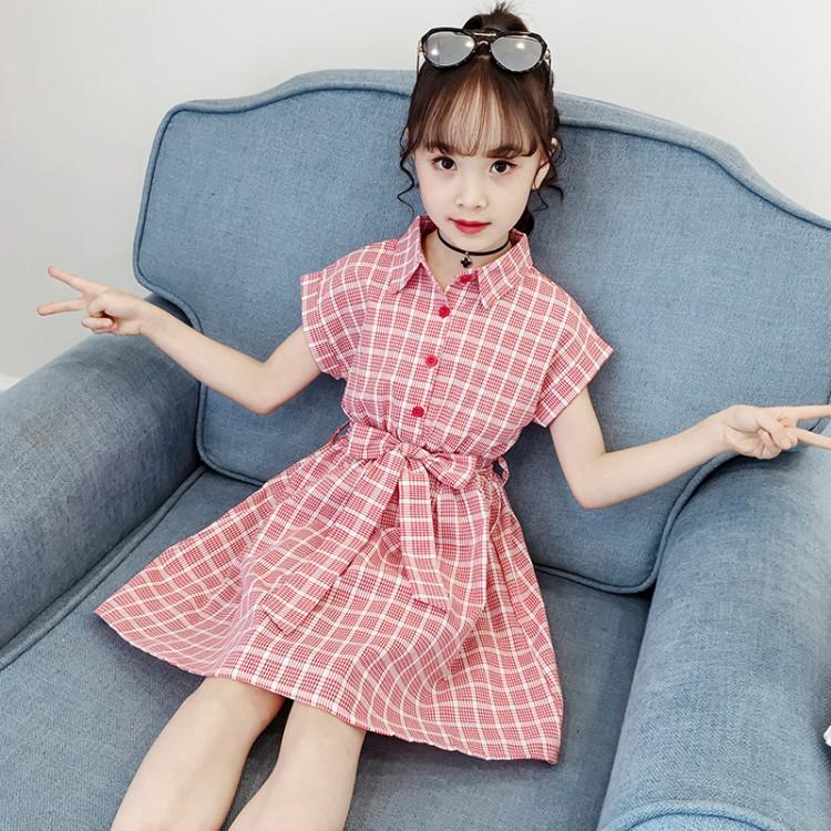 Váy thời trang họa tiết caro dễ thương cho bé gái