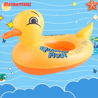 (ASD-COD)Duck float kids inflatable baby toddler swimming swim seat pool animal ring