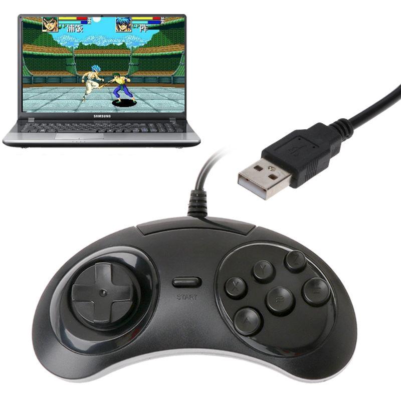 Tay Cầm Chơi Game Có Dây 6 Nút Sega Md2