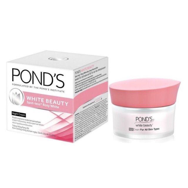 Kem dưỡng da trắng hồng rạng rỡ Ponds White Beauty Night 50g(Ban đêm)