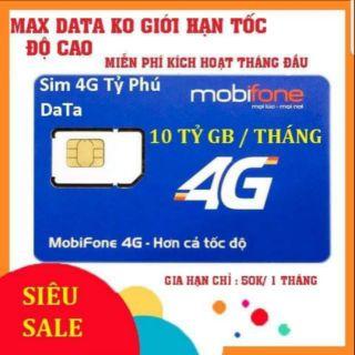 HÓT SALE (FULL MAX DATA) SIM 4G MOBIFONE BL5GT FULL MAX KHÔNG GIỚI HẠN DATA CHỈ 50/THÁNG