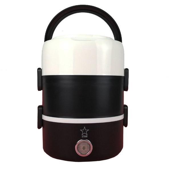 Cặp lồng hộp cơm cà men giữ nhiệt 3 tầng bằng inox, có lõi cắm điện hâm nóng thức ăn - Chính hãng miDoctor