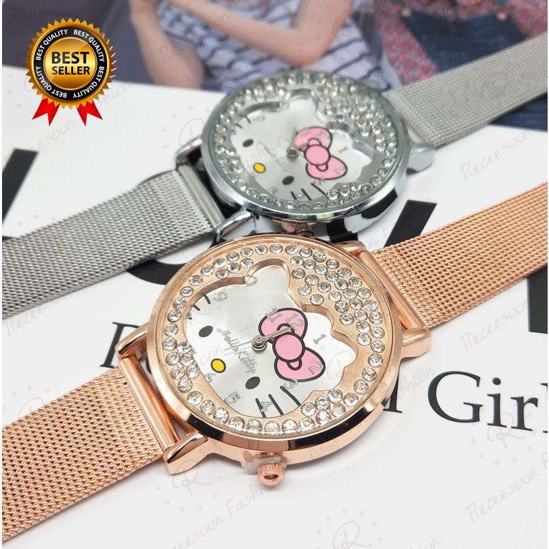 Đồng hồ đeo tay hình Hello Kitty cho bé gái thumbnail