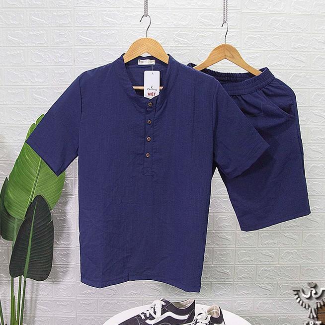 Bộ quần áo đũi nam Mantino chất vải đũi thái loại dày đẹp hàng hot trend BDC2021
