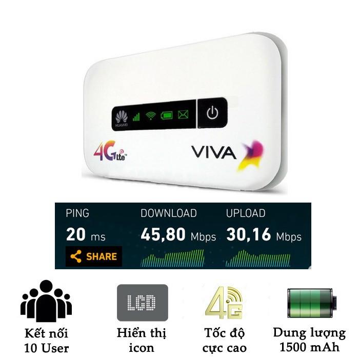 Phát wifi từ sim 4G Huawei E5373 phiên bản ViVa tốc độ cao (Trắng)