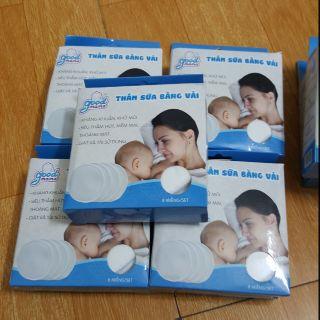 Hộp 8 Miếng lót thấm sữa bằng vải Good mama giặt được, miếng lót thấm sữa Good mama thumbnail