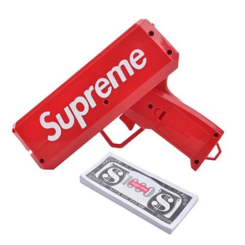 Súng Bắn Tiền Supreme Full Box Tặng Kèm 100 Tờ Tiền Dolar Supreme sale