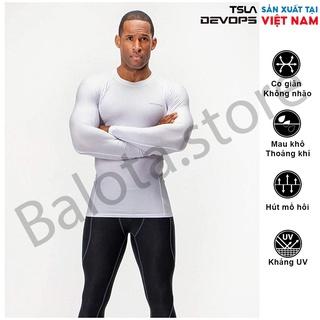 Áo combat nam dài tay Devops chất thun form ôm body co giãn giúp giữ nhiệt chơi thể thao bóng đá bóng rổ gym bơi gym tạ thumbnail