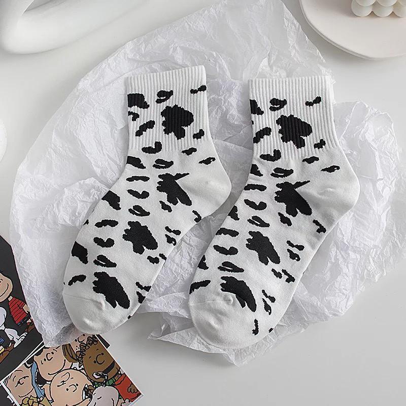 Set 5 đôi Vớ tất nam nữ unisex Bò Sữa cực đẹp TN76