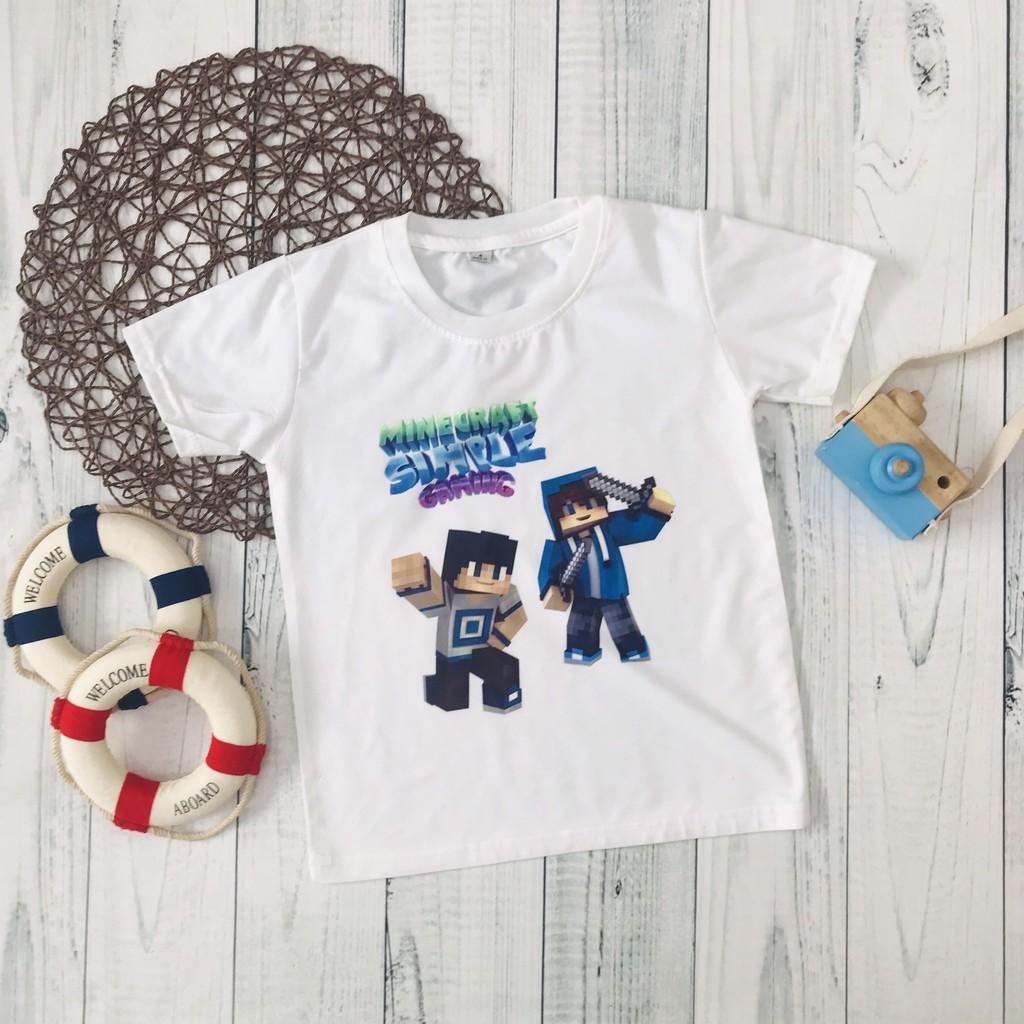 Áo thun Minecraft cho bé trai