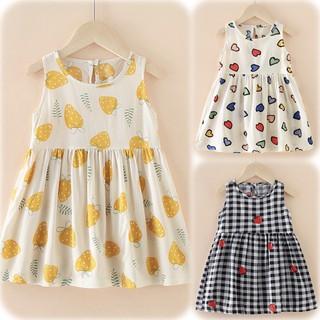 (Nowship HCM Q2) (xuân hè 2021) Đầm váy hoa xinh bé gái dễ thương Kate Combo 1 dành cho công chúa nhí vintage thích elsa