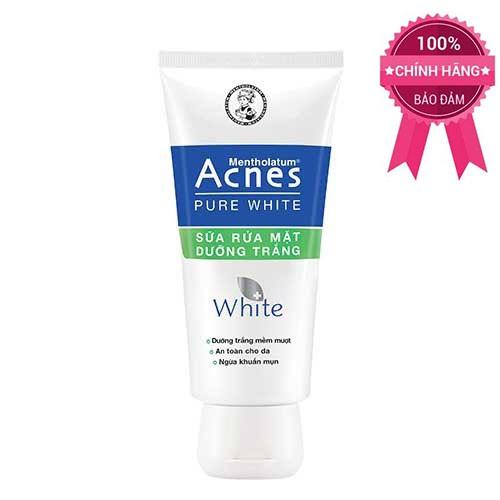 Sữa rửa mặt dưỡng trắng an toàn cho da ngừa khuẩn mụn Acnes Pure White 100g - 3012121 , 386107402 , 322_386107402 , 50000 , Sua-rua-mat-duong-trang-an-toan-cho-da-ngua-khuan-mun-Acnes-Pure-White-100g-322_386107402 , shopee.vn , Sữa rửa mặt dưỡng trắng an toàn cho da ngừa khuẩn mụn Acnes Pure White 100g