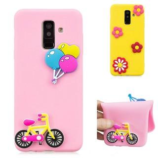 Samsung Galaxy A6 A8 plus 2018 A3 A5 A7 2015 2016 2017 Note 3 4 5 8 9 3D Flower Cute Soft Silicon Phone Case Cover