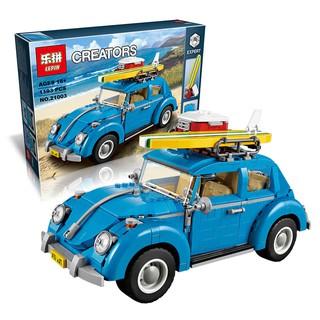 Đồ Chơi Lắp Ráp CREATOR – LEPIN 21003 – Lắp Ráp Xe Mẫu Xe Volkswagen Beetle 1193 Chi Tiết
