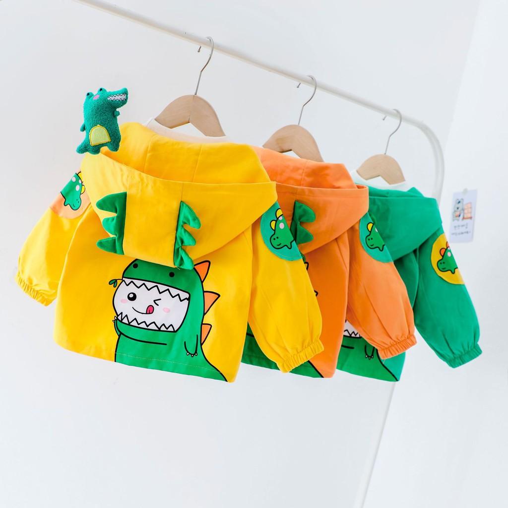 [HÀNG HOT] Áo Khoác Áo Gió kiểu dáng KHỦNG LONG ngộ nghĩnh Cao Cấp - full size cho bé