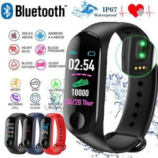 Đồng hồ thông minh Bluetooth M4 Chống thấm nhịp tim Huyết áp với Vòng đeo tay thể dục theo dõi thể dục -