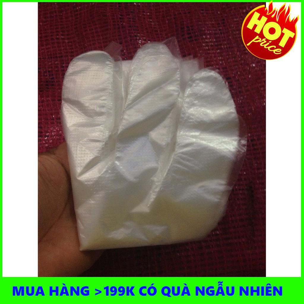 [BÁN LẺ]  Hộp Găng Tay Ni Lông Tiện Dụng Đỏ TH001 (~50 chiếc)