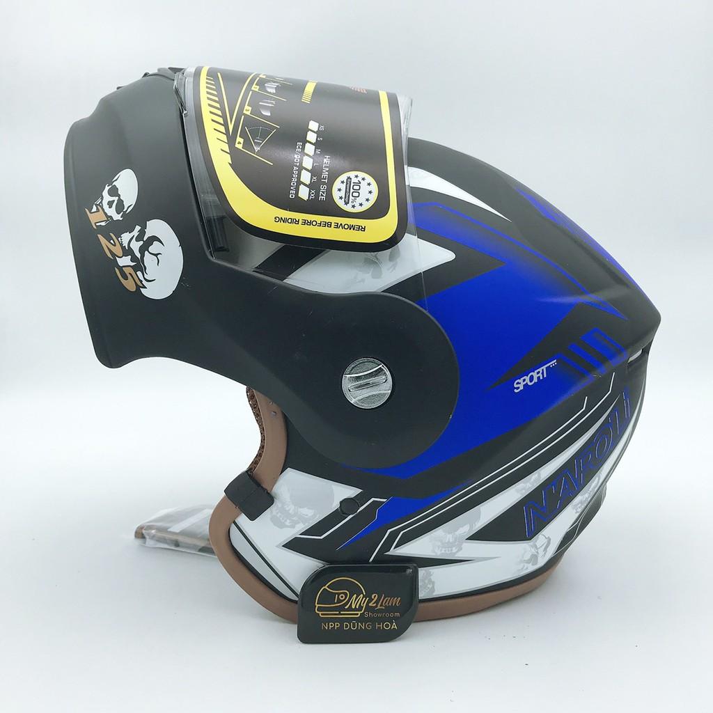 Mũ bảo hiểm fullface lật hàm Napoli N125 tem (tặng kèm túi đựng)