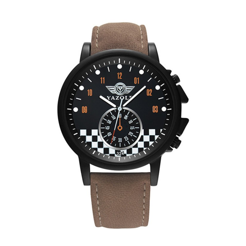 Đồng hồ nam nữ đẹp Yazole YA032 cực đẹp, mẫu mới thời trang, mặt to cá tính