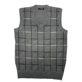Áo len nam ấm áp không tay kẻ sọc áo vest len dệt kim mùa thu đông áo len nam mùa đông