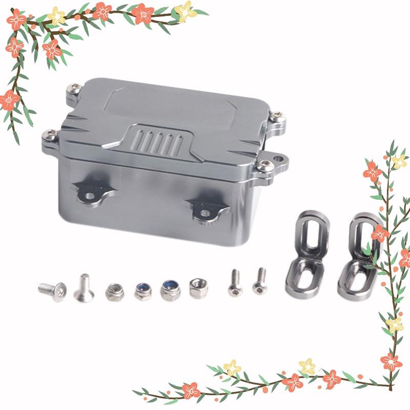 Metal Receiver Box Esc Box For 1/10 Rc Crawler Car Axial Scx10 Rc4Wd D90 D110 Upgrade Parts