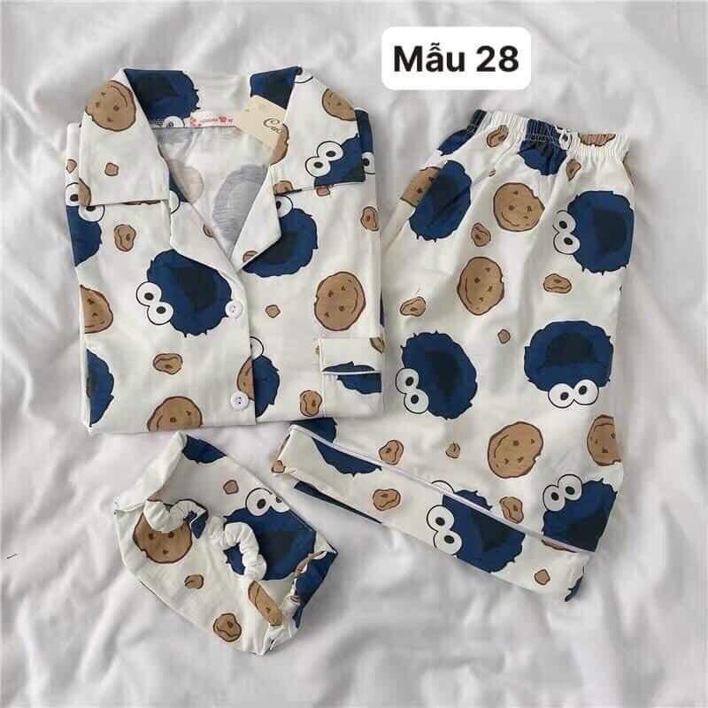 Mặc gì đẹp: Mát mẻ với Bộ Pyjama ngắn tay Bò Sữa mặc ở nhà THUS, Set bộ ngủ Kate Thái form rộng SB1E01A