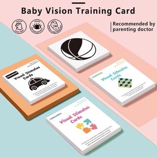 Baby Vision Training Card Black White Flash Cards Kids Sensory High Contrast Visual Stimulation Learning Flashcards