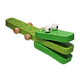 Orffworld Crocodile Wooden Castanet Baby Musical Instrument Cartoon Rattle Toy