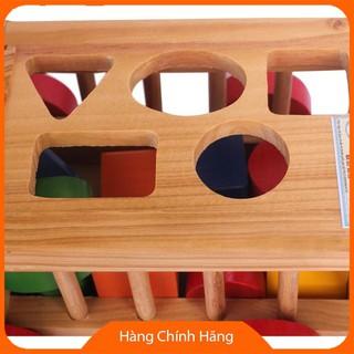 Đồ Chơi toán học Đồ chơi xe cũi thả hình bằng gỗ SMOKQLV9