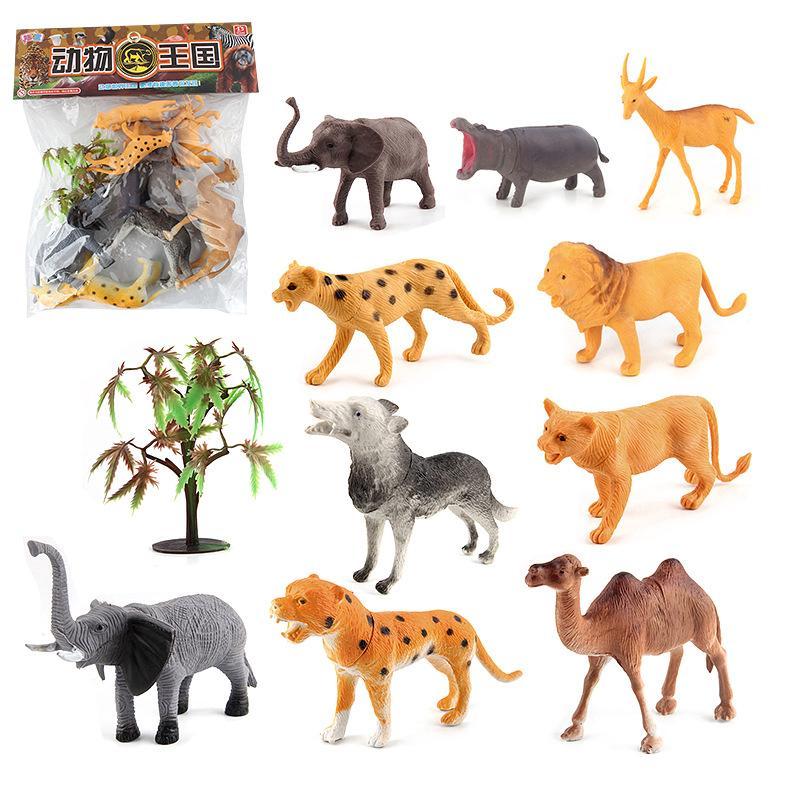 set 10 mô hình động vật bằng nhựa dùng để trang trí nội thất
