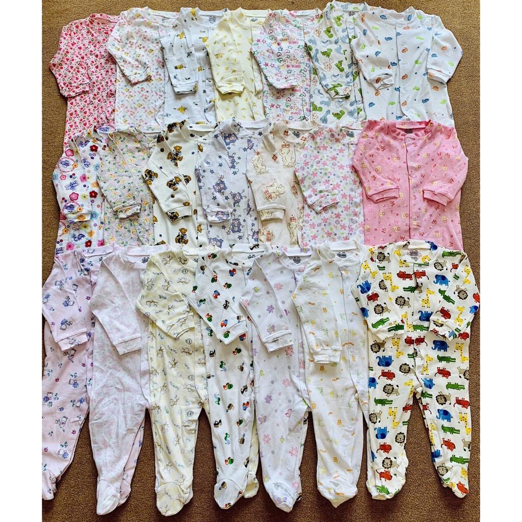 Set 3c body liền tất xuất dư 100% cotton cho bé