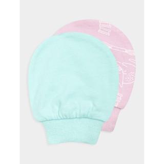 Set bao tay em bé sơ sinh hồng trắng 4AX18A001 Canifa