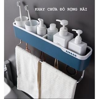 Kệ để đồ mỹ phẩm phòng tắm. giá treo khăn mặt. giá để kem đánh răng, kệ gián tường đa năng, kệ phòng tắm. [ONE STORE]