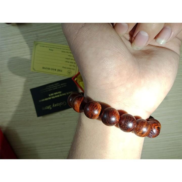 Vòng Tay Gỗ Sưa Đỏ ( vân cực đẹp) - vòng tay hạt tròn Vòng Tay/Lắc Tay