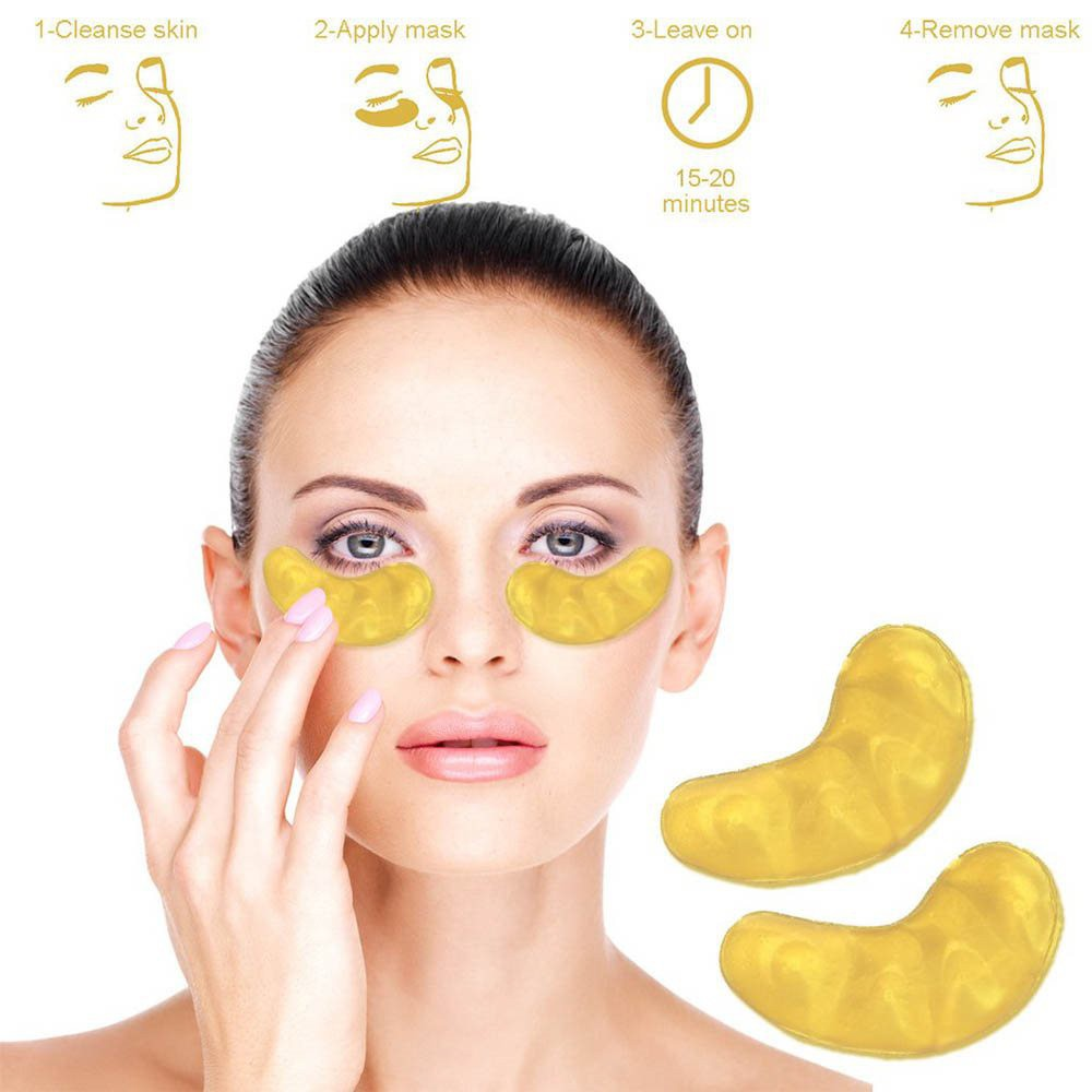 Mặt nạ mắt Crystal Collagen Gold Powder Eye Mask
