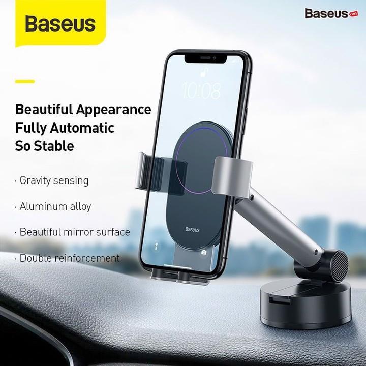 Gía đỡ điện thoại gắn taplo hoặc kính lái ô tô thương hiệu cao cấp Baseus SUYL-JY01