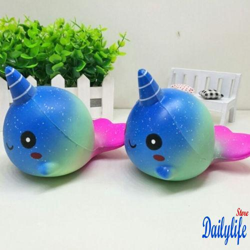ILN-Cute decompression funny whale slow rebound bright starry sky children toys