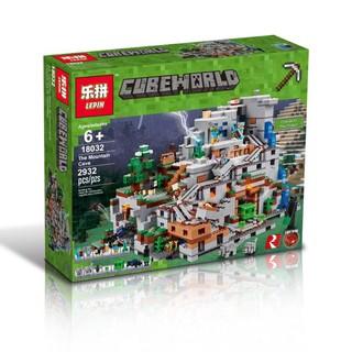 Mẫu lắp ráp Hang Động minecraft Lepin 18032 Lego 21137