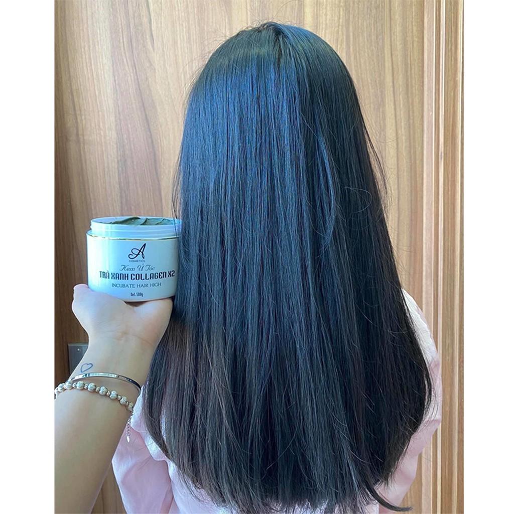 Combo Kem Ủ tóc trà xanh + Tinh dầu bưởi Acosmetics🌸Phục hồi tóc hư tổn, giảm rụng tóc, trị hói🌸Tặng Kèm