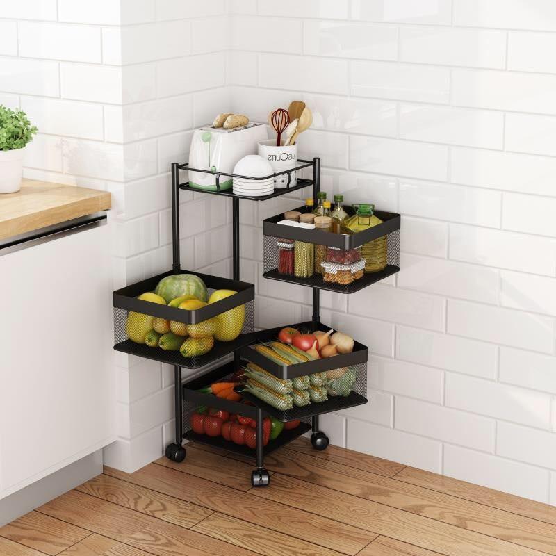 Kệ xoay 4 tầng vuông tiện dụng - Kệ nhà bếp khác | WebSoSanh.co