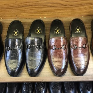 Sục nam da bò-giày hở gót nam xả kho giá gốc