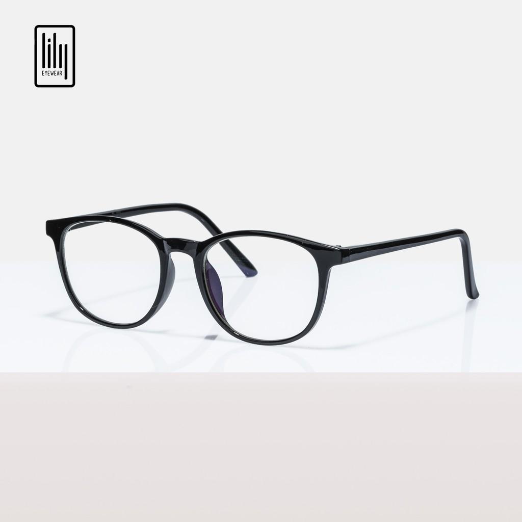 Gọng kính cận nhựa dẻo nam nữ Lilyeyewear , kiểu dáng mắt tròn , nhiều màu sắc – 9102