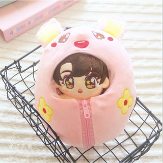 Outit cosplay thỏ hồng cho doll 15-22cm